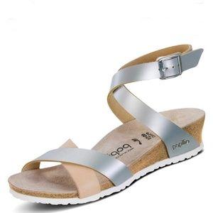 Birkenstock Papillio Lola wedge Sandals Size 10